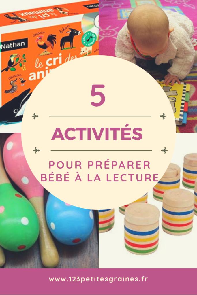 5 activités pour préparer bébé à la lecture