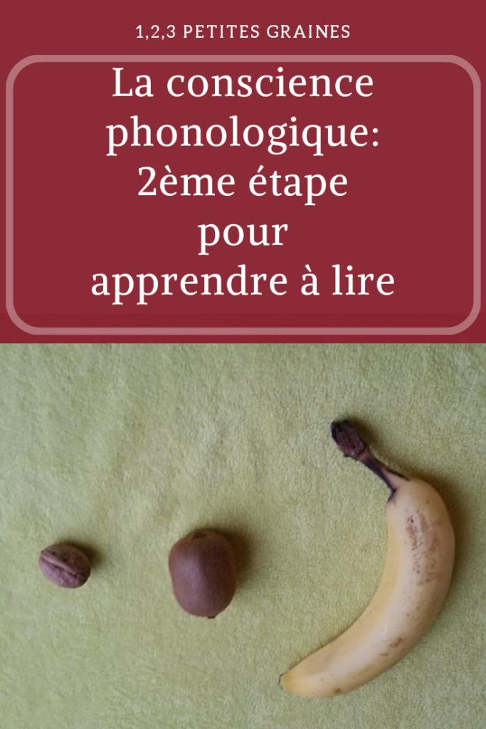 Conscience phonologique 2ème étape pour apprendre à lire