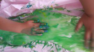 Inspiration reggio peinture sur miroir
