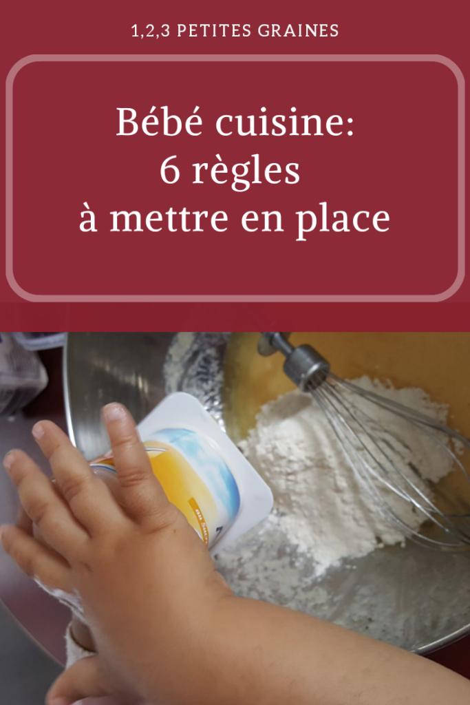 Bébé cuisine activité de vie pratique montessori