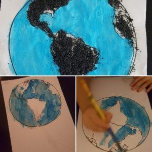 coloriage globe montessori