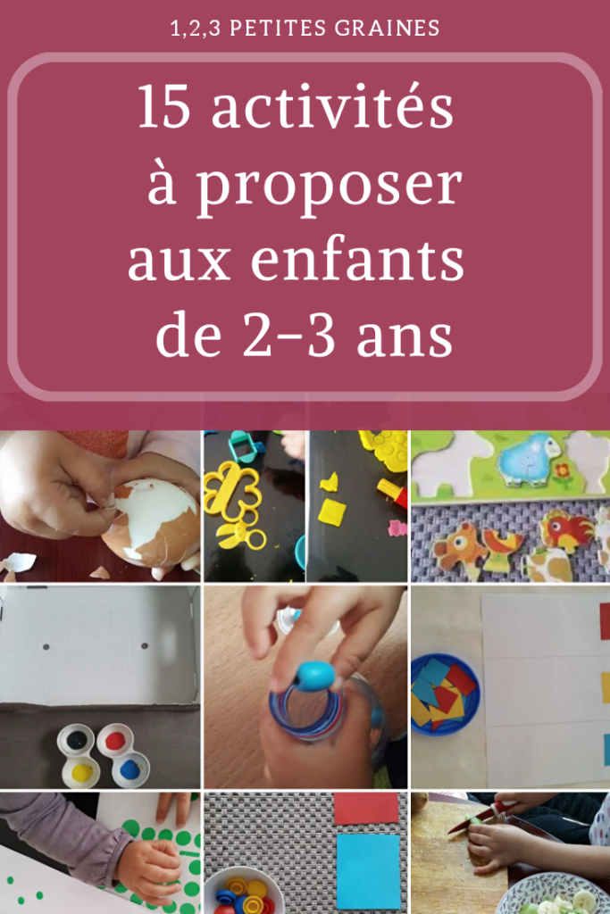 15 activités à proposer aux enfants de 2-3 ans