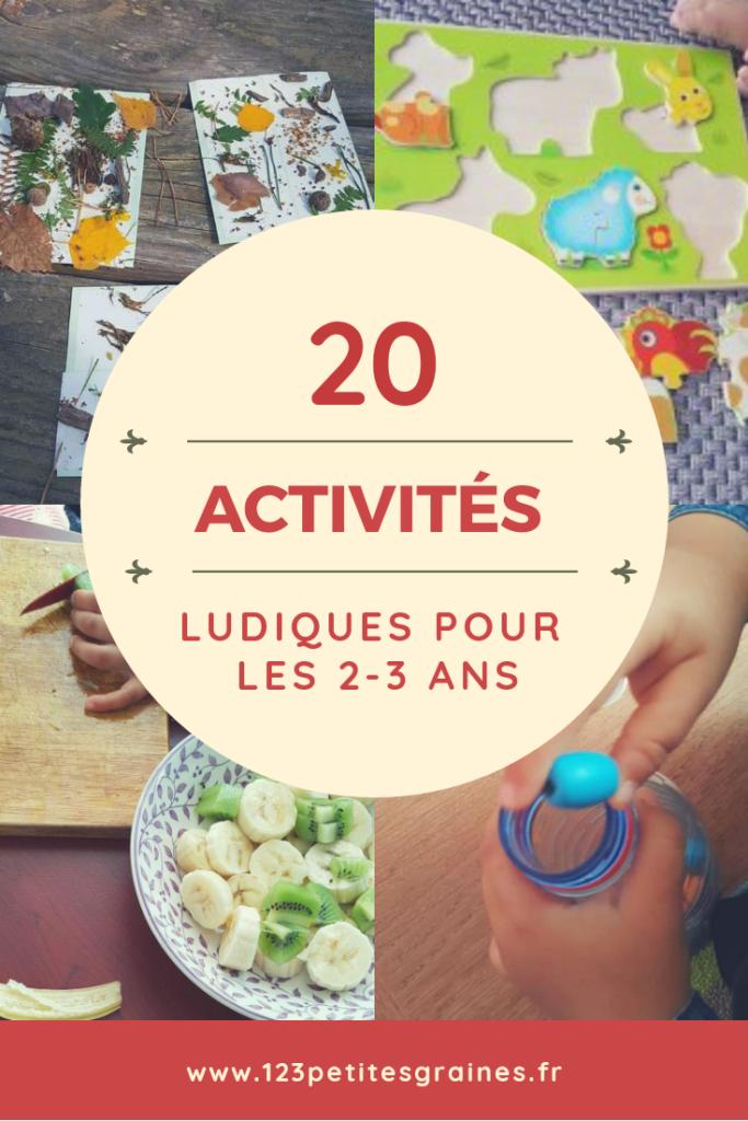 20 activités ludiques 2 3 ans