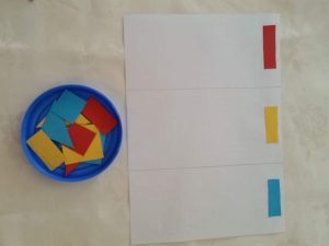 collage tri des couleurs montessori