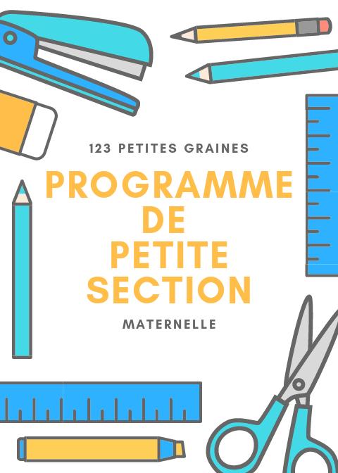 Programme De Petite section instruction en famille