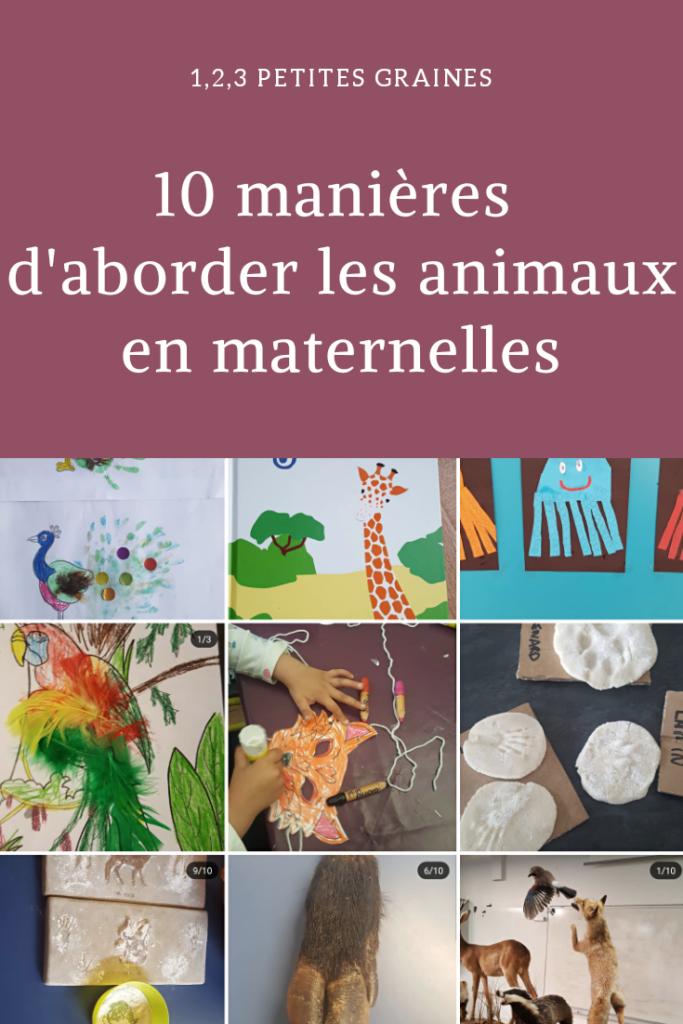 10 manières d'aborder les animaux en maternelle