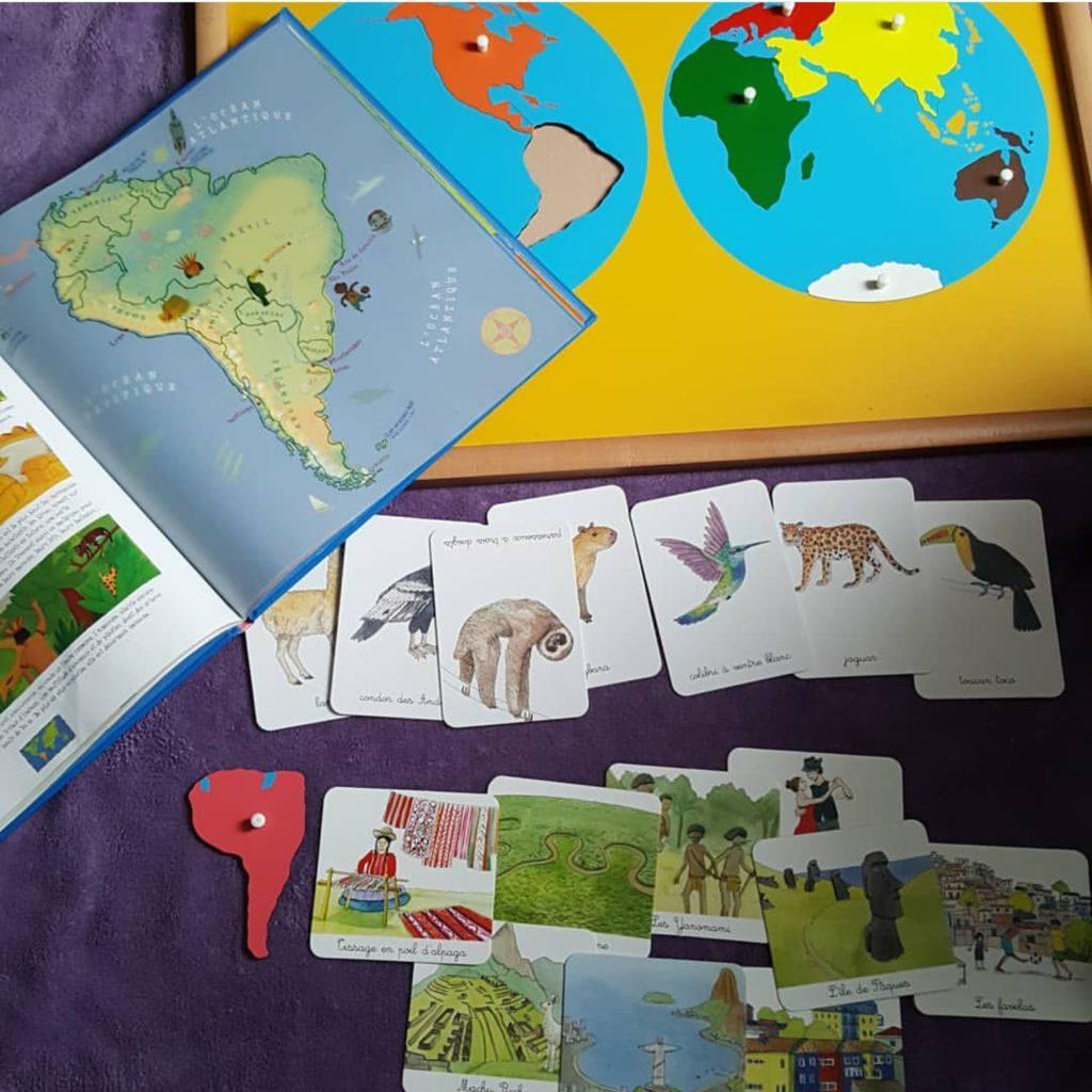Géographie d'inspiration montessori