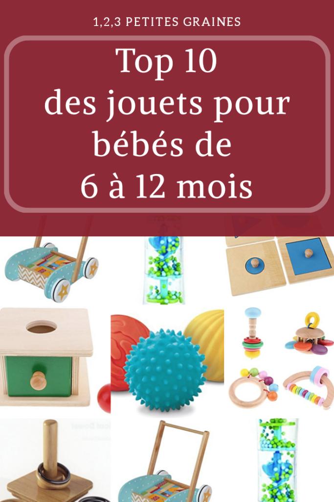 Jouets montessori bébé 6 - 12 mois