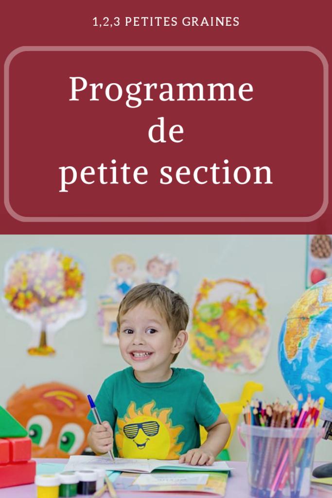 Programme De Petite section