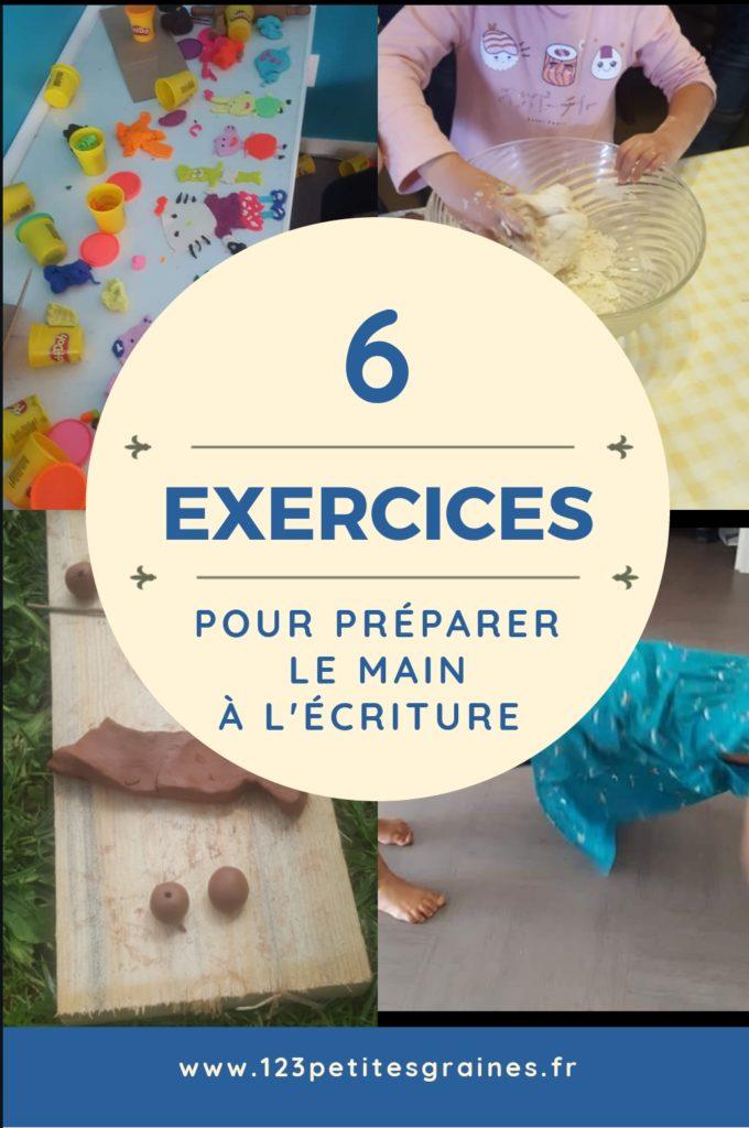 6 exercices pour préparer la main à l'écriture
