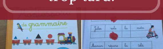 La grammaire, c'est dès la maternelle avec Maria Montessori
