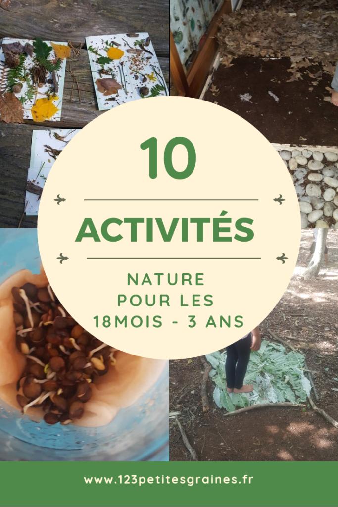 activités nature montessori 3 ans 18 mois